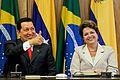 Hugo Chávez and Dilma Rousseff in Brasília 2011 2.jpg