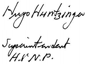 Hugo Huntzinger - Image: Hugo Huntzinger signature