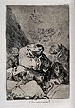 Human figures, some with animal heads, praying. Etching by F Wellcome V0025831.jpg