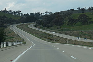 Freeways in Australia - M31 Hume Highway near Gundagai
