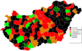 Hungarian Wikipedians Subregions 2011 March.png