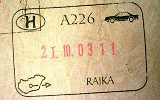 Rajka - Image: Hungary rajka exit