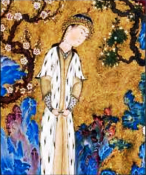 Hushang - Painting of Hushang in the Shahnameh of Shah Tahmasp