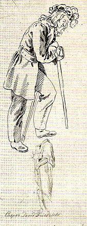 Caspar David Friedrich: Studie zum Gemälde Huttens Grab, 1823 (Quelle: Wikimedia)