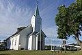 Hvasser kirke 1903 1908 Færder kommune, Norway 2020-07-02 summer white wooden church benches DSC01821.jpg