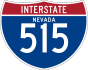 Interstate 515 marker