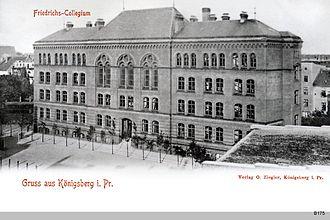 Prussian education system - Collegium Fridericianum in Königsberg