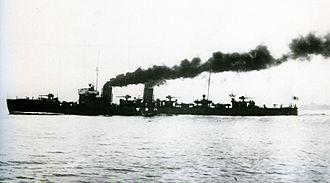 Japanese destroyer Hakaze - Image: IJN Hakaze on trials Taisho 9