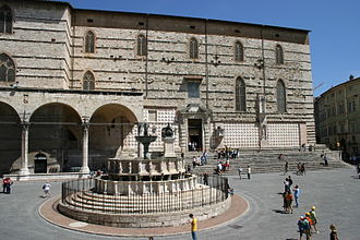 Papal conclave, 1304–05 - The Cathedral of S. Lorenzo in Perugia, the city where the conclave was held