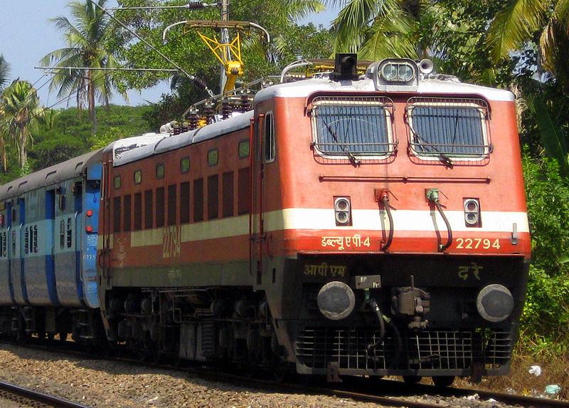 File:INDIAN RAILWAYS WAP-4 ELECTRIC LOCOMOTIVE.JPG