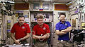 ISS-44 Russian crew members speak to Dmitri Medvedev.jpg
