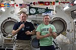 ISS-55 Ricky Arnold and Drew Feustel inside the Kibo lab.jpg