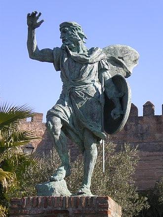 Badajoz - Statue of Ibn Marwan in Badajoz