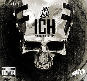 "Sido (rapper) - Sido's mask on the cover of the premium edition of ""Ich"""
