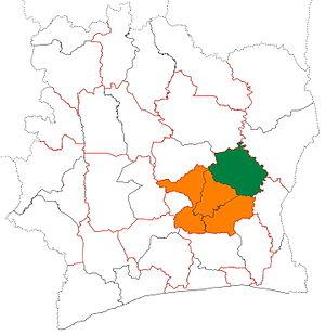 Iffou - Image: Iffou region locator map Côte d'Ivoire