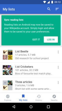 Illustration of Reading List feature on Android Wikipedia App (not logged in).png
