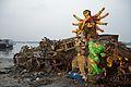 Immersed Durga Idol Remains - Baja Kadamtala Ghat - Kolkata 2015-10-22 6612.JPG