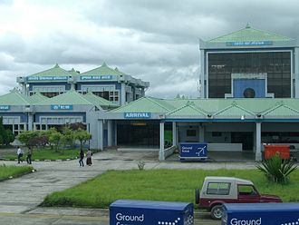 Imphal airport is the second largest airport in India's northeast. Imphal airport.jpg