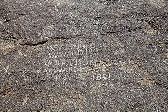 Independence Rock (Wyoming) - Image: Independence rock names 2