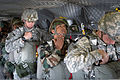 Indian Army paratroopers with the 50th Parachute Brigade and U.S. Soldiers with the 1st Brigade Combat Team, 82nd Airborne Division check their equipment before exiting a U.S. Army CH-47 Chinook helicopter 130515-A-DK678-014.jpg