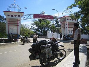 English: The Indonesia-Timor Leste border