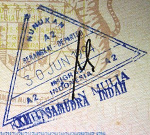 Nunukan Regency - Indonesian exit stamp from Nunukan.
