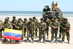 Military Forces of Colombia - Image: Infantes de marina colombia