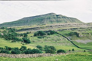 Ingleborough - The layered appearance of Ingleborough