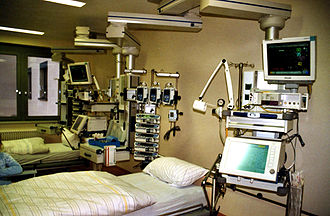 Hospital - A standard intensive care unit (ICU) within a hospital