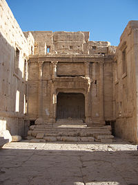 Interior view of the Temple of Baal in Palmyra, Syria. (II).jpg