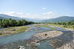 Iori (river) - River Iori in Tianeti