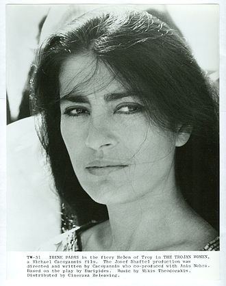 Irene Papas - Papas in a publicity still for The Trojan Women (1971)