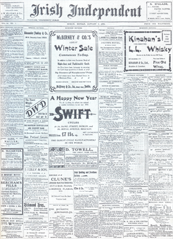 Irish Independent First Issue 1905 01 02.png