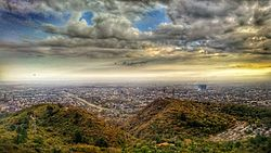 Islamabad- Under dark clouds