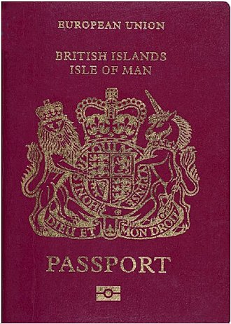 Isle of Man - The cover of an Isle of Man passport