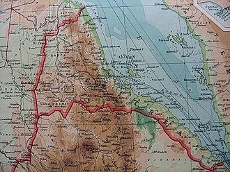 Italian Eritrea - 1922 map showing Italian Eritrea
