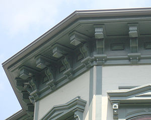 Eaves - Italianate eaves with decorative support brackets