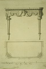 Design for a console table in Louis XVI style
