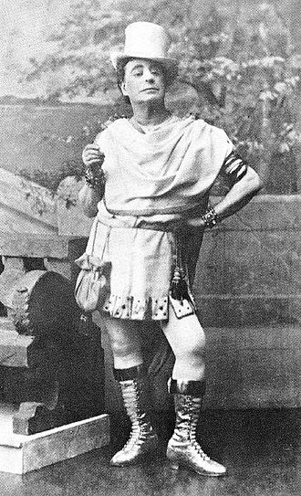 F. C. Burnand - J. L. Toole in Burnand's Paw Claudian, 1884