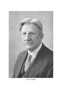 John Merlin Powis Smith American academic