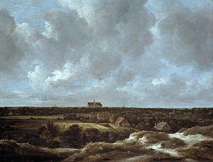 View of Haarlem with Bleaching Fields - Image: Jacob van Ruisdael Vista de Haarlem com branquearia, c. 1665 70