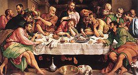 La Cène, peinte par Jacopo Bassano en 1542.