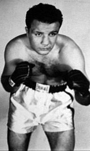 Jake LaMotta signed photo postcard 1952.JPG
