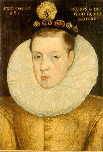 Anne of Denmark - James VI in 1586, aged twenty, three years before his marriage to Anne. Falkland Palace, Fife.