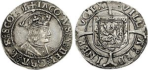 James V of Scotland - Groat of James V, Edinburgh mint, 1526×1539