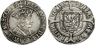 Renaissance in Scotland - Groat of James V, showing him wearing an imperial closed crown