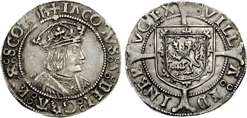 James V groat 1526 1704