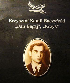 Krzysztof Kamil Baczyński - Stone tablet of Krzysztof Kamil Baczyński in the Warsaw Uprising Museum