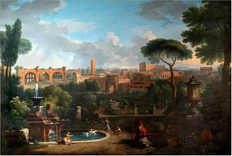 Jan Frans van Bloemen - View of Rome from the Barberini Palace