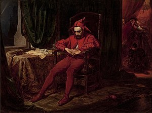 Stańczyk - Stańczyk by Jan Matejko The jester is depicted as the only person at a royal ball who is troubled by the news that the Russians have captured Smolensk. This event happened in 1514.